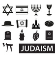 judaism religion symbols set of icons eps10 vector image