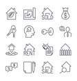 real estate realtor deals icon set for sale and vector image