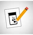 research chemical laboratory container icon vector image