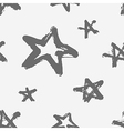 seamless childish pattern with hand drawn stars vector image