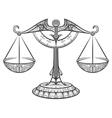 Zodiac Libra drawn in zentangle style vector image