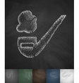 smoking pipe icon Hand drawn vector image