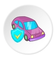 Machine and safety sign icon cartoon style vector image