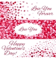 Valentines day sale love banners with vector image vector image