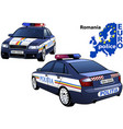 romania police car vector image vector image
