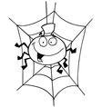 Spider cartoon vector image