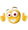 Thumb up emoticon for you design vector image vector image