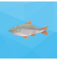 poly fish vector image