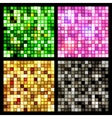 Four seamless mirror mosaic vector image