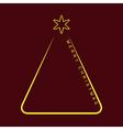 greeting card - simple Christmas yellow tree vector image
