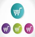 shopping korpa vector image