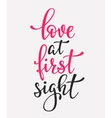 Love at first sight typography quote vector image