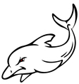 angry dolphin sketch vector image