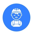 Builder black icon for web and vector image