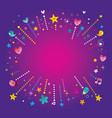 happy fun bursts explosion banner frame vector image