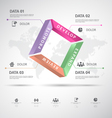 Infographic 3d data vector image