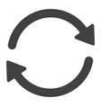 sync glyph icon web and mobile refresh sign vector image