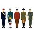 Uniforms of the British Army since 2000 vector image vector image