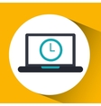 cloud computing clock social media virtual icon vector image