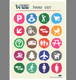Family and vacation human figures icons set vector image vector image