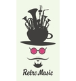 Retro music man vector image vector image