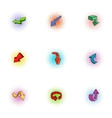 Cursor icons set pop-art style vector image vector image