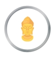 Buddha icon in cartoon style isolated on white vector image