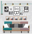 decorate a living room vector image