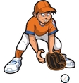 Outfielder vector image vector image