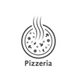 simple outline pizzeria logo vector image