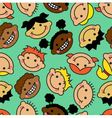 seamless background with faces of children vector image