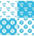 CMS settings patterns set vector image