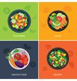 food web banner flat design vector image vector image