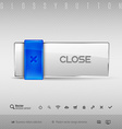 Blue and Gray Button vector image vector image