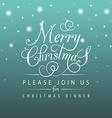 Merry Christmas typography for Christmas greeting vector image