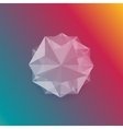 abstract gem and white ice vector image