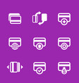 credit cards icons set for internet banking app vector image