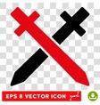 Crossing Swords Eps Icon vector image