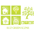 Eco green icons vector image