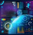 interface hud dashboard futuristic vector image