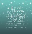 Merry Christmas typography for Christmas greeting vector image