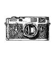 Rangefinder camera vector image
