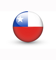 Round icon with national flag of Chile vector image
