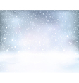 Silver blue winter Christmas background vector image