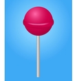 Pink candy lolipop vector image