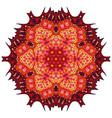 red mandala ethnic decorative elements vector image