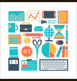 collection of colors of business elements office vector image