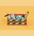 under construction toolbox vector image