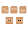 Power sockets and switches vector image