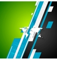 Bright abstract tech background vector image